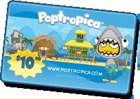 Poptropica Game Card