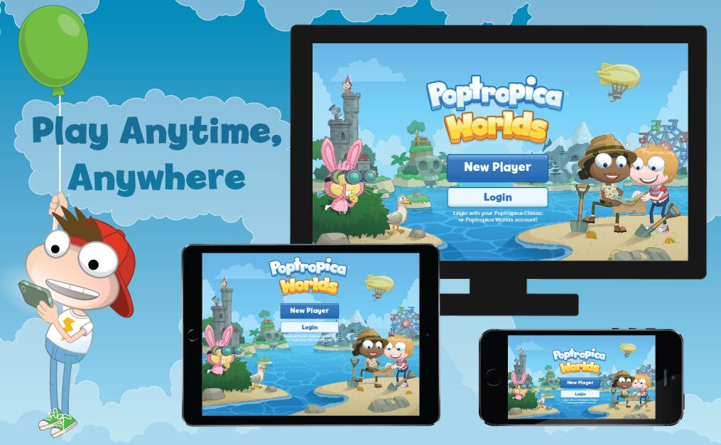 Poptropica Worlds app