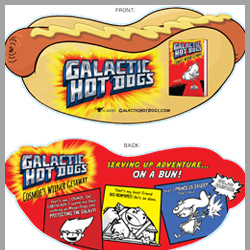 Cut out hot dog bookmark thumbnail