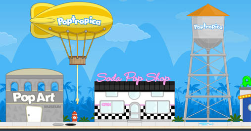 Early Poptropica Island main street