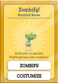 Haunted House Zombie Card