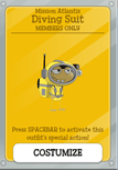 Mission Atlantis Members Only Item and Card