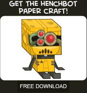 Free Poptropicon Henchbot Paper Craft