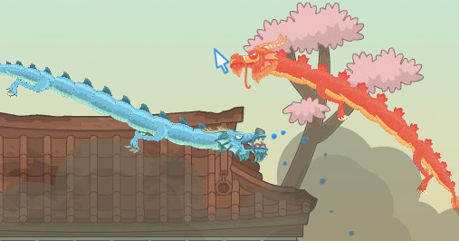 Red Dragon Island - dragon battle