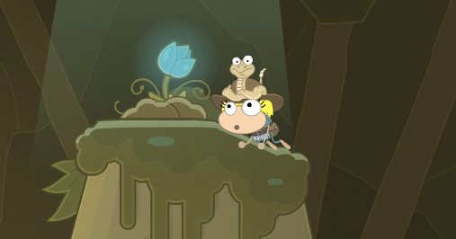 Poptropica avatar found a secret treasure in Wild West Island