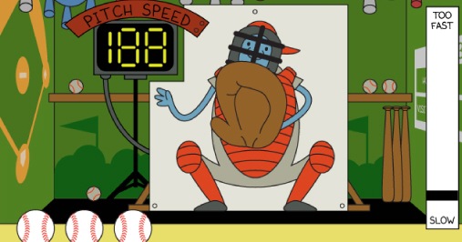 Wimpy Boardwalk Pitch Speed Arcade Game