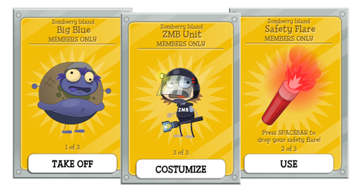 Members, get your Zomberry Island gear!