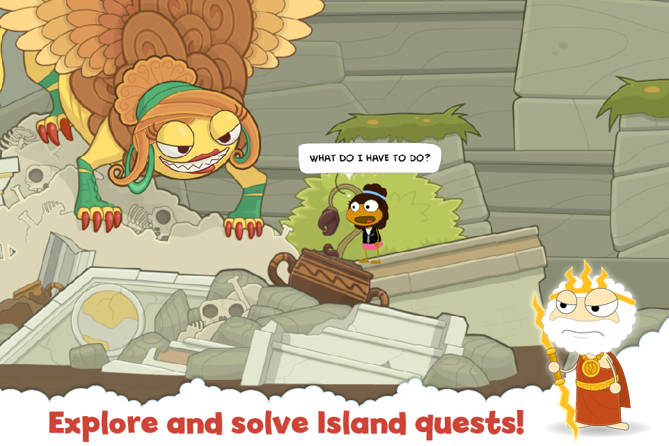 Explore and solve Island quests!