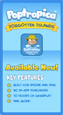 Poptropica Forgotten Island App Available Now and Key Features
