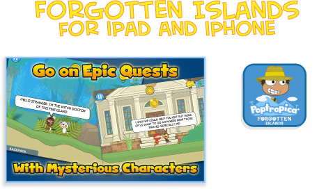 Poptropica's Forgotten Islands Mobile App