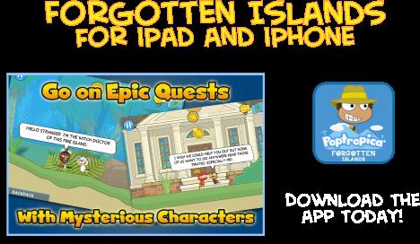 Poptropica's Forgotten Islands Mobile App