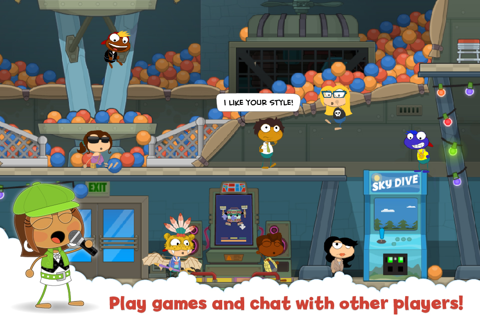 Play games and chat with other players!