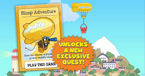 Poptropica Blimp Toy Unlocks an Exclusive Quest