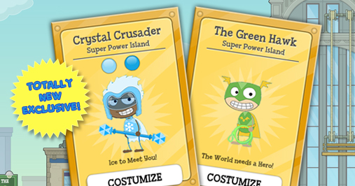 Super Power Island Poptropica Card